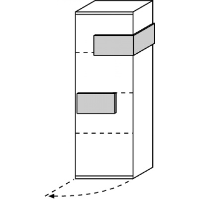 hilight Typ 431 Türelement 1-türig links angeschlagen, Breite 51,2cm, Höhe 144,4cm, Tiefe 36,9cm