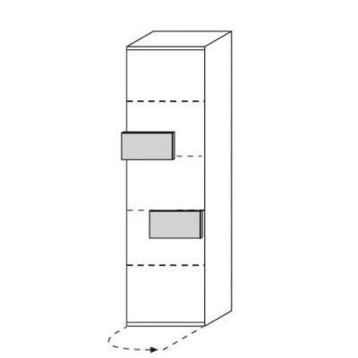hilight Typ 630 Türelement rechts angeschlagen, Breite 51,2cm, Höhe 179,6cm, Tiefe 36,9cm