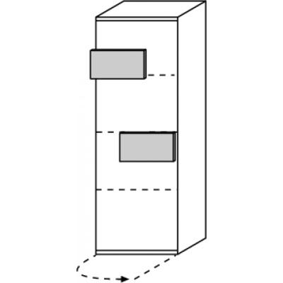 hilight Typ 430 Türelement 1-türig rechts angeschlagen, Breite 51,2cm, Höhe 144,4cm, Tiefe 36,9cm