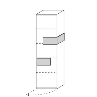 hilight Typ 631 Türelement links angeschlagen, Breite 51,2cm, Höhe 179,6cm, Tiefe 36,9cm