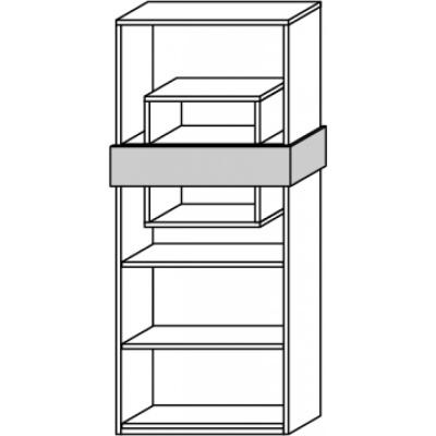 hilight Typ 675 Regalelement ohne Rückwand, Breite 77,4cm, Höhe 179,6cm, Tiefe 29,8cm