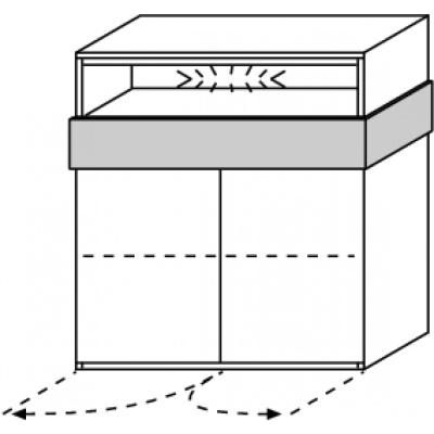 hilight Typ 356 Sideboard 2-türig, Breite 102,4cm, Höhe 110,4cm, Tiefe 44,3cm