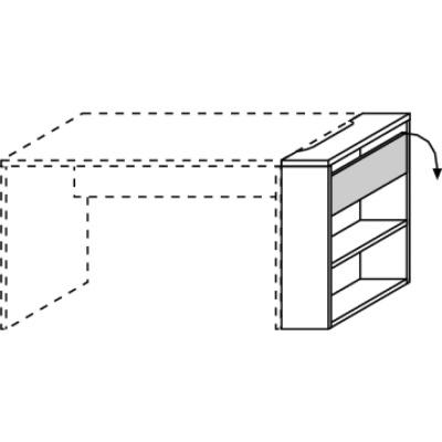 hilight Typ 002 Schreibtisch-Funktionsanbau, Breite 25cm, Höhe 72cm, Tiefe 67cm