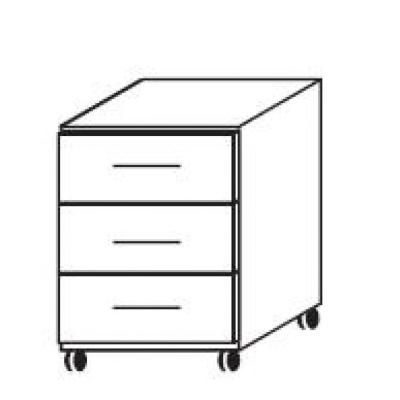 hilight Typ 231 Schreibtisch-Rollcontainer, Breite 42,7cm, Höhe 53,8cm, Tiefe 56,8cm