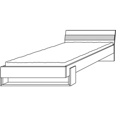 hilight Typ 081  Liegenbett 120*200cm, Breite 128,8cm, Höhe 76cm, Tiefe 210cm