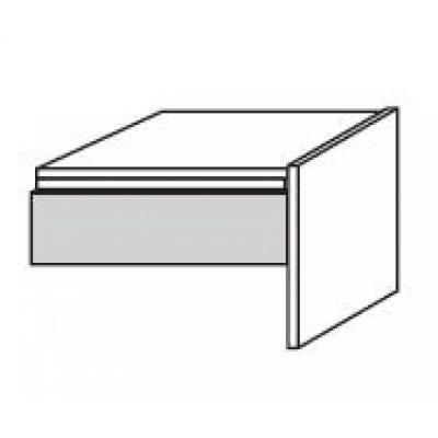 hilight Typ 217 Bettkonsole mit Schubkasten (nicht freistehend ) Breite 52,2cm, Höhe 34cm, Tiefe 43,4cm