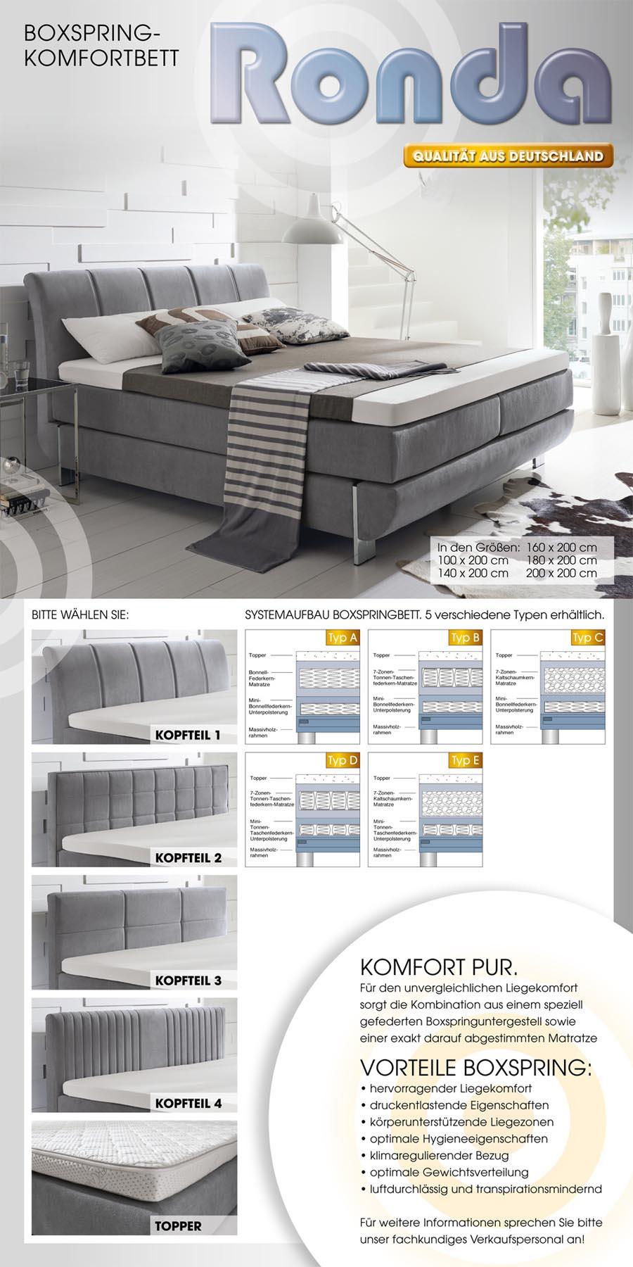 boxspringbett ronda 870 00. Black Bedroom Furniture Sets. Home Design Ideas